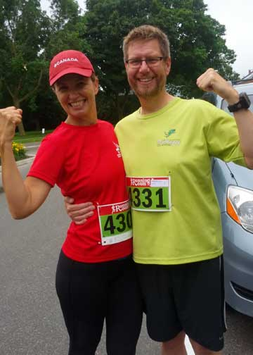 Runners after a local 10K road race