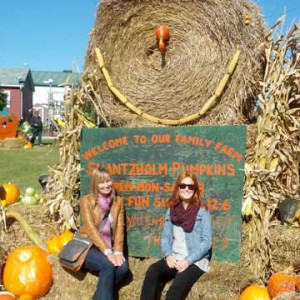 Visiting a pumpkin patch